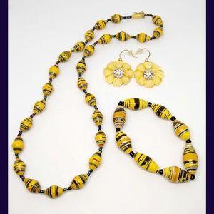 Paper bead jewelry bundle